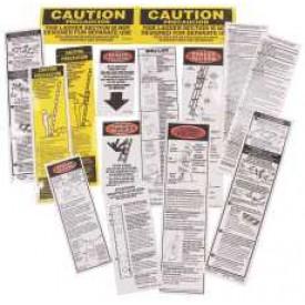 Werner Fiberglass Extension Ladder Safety Labels 300 Pounds